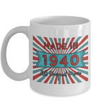 Vintage 1940 Mugs - Made In 1940 All Original Parts Cool Birthday Gifts For Men, Women 11oz 15oz