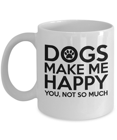 Dogs Lover Coffee Mug - Dogs Mug Gift for Women Tea Cup White