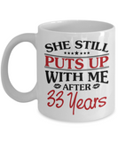 33rd Anniversary Gifts for Men, Funny 33rd Anniversary Mug for Him, 33 Years Wedding Anniversary Coffee Mug