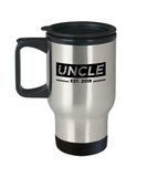 Uncle Est. 2018 Mug, First Time Uncle Gifts, Uncle Travel Mug