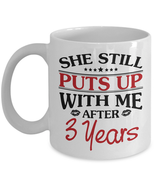 3rd Anniversary Gifts for Men, Funny 3rd Anniversary Mug for Him, 3 Years Wedding Anniversary Coffee Mug