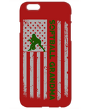 Softball Grandma U.S. Flag Phone Case