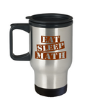 Funny Math Teacher Mug- Eat Sleep Math Travel Mug Stainless Steel 14 Oz