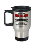 Funny Installer Mug, Being An Installer is Easy Travel Mug Stainless Steel 14 Oz