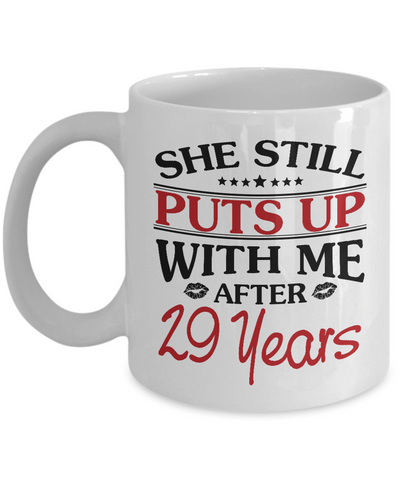 29th Anniversary Gifts for Men, Funny 29th Anniversary Mug for Him, 29 Years Wedding Anniversary Coffee Mug
