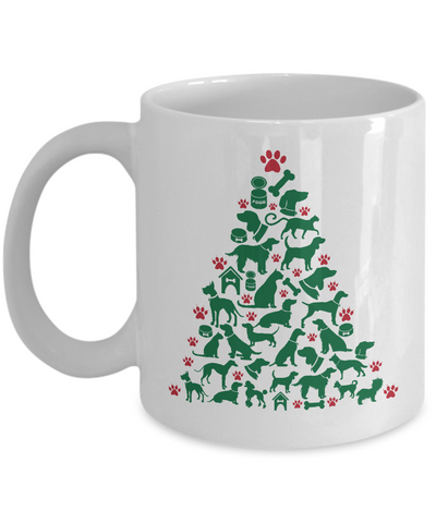 Dogs Merry Christmas and Happy New Year 2017 Mug