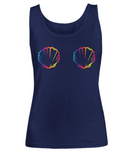 Funny Summer Holiday LGBT Pride Seashell Tank Top