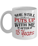 13th Anniversary Gifts for Men, Funny 13th Anniversary Mug for Him, 13 Years Wedding Anniversary Coffee Mug