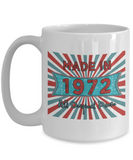 Vintage 1972 Mugs - Made In 1972 All Original Parts Cool Birthday Gifts For Men, Women 11oz 15oz