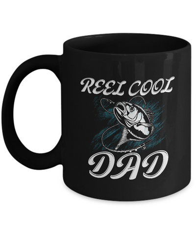 Cool Fishing Dad Mugs Funny Fathers Day Gift for Fisherman Coffee Mugs Black Color