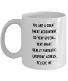 Great Accountant Mug, Cute Mug Quote President 2020 Tea Cup