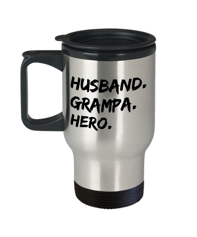 Husband Grampa Hero Mug Gift for Him Grandpa Fathers Day Travel Mug Tea Cup 14oz