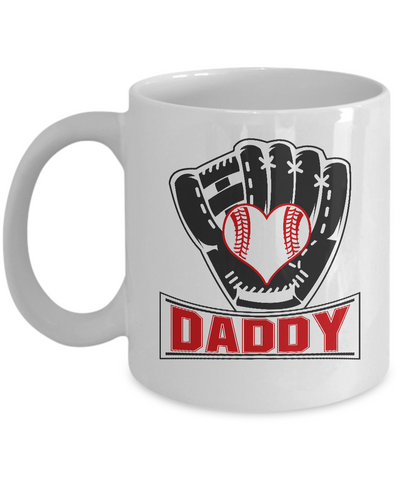 Funny Baseball Dad Mug Daddy Softball Gifts for Him Fathers Day 110z 15oz