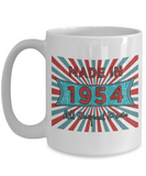 Vintage 1954 Mugs - Made In 1954 All Original Parts Cool Birthday Gifts For Men, Women 11oz 15oz