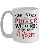 41st Anniversary Gifts for Men, Funny 41st Anniversary Mug for Him, 41 Years Wedding Anniversary Coffee Mug