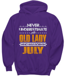 Never Underestimate An Old Lady Who Was Born In July