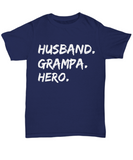 Husband Grampa Hero Shirt Gifts for Grandpa Fathers Day