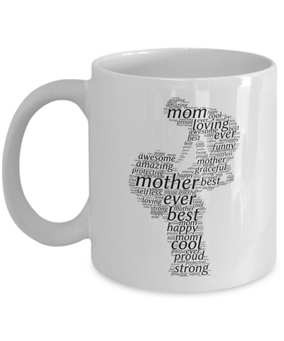 Best Mom Ever Cloud Coffee Mug Gift For Mothers Day