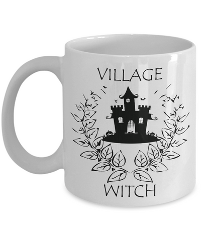 Village Witch Mug, Halloween Ceramic Coffee Mug 11oz 15oz