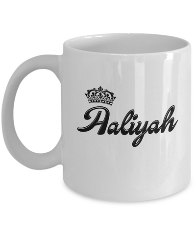 Aaliyah Coffee Mug, Gifts For Aaliyah, Mugs For Her, Princess Aaliyah Gifts