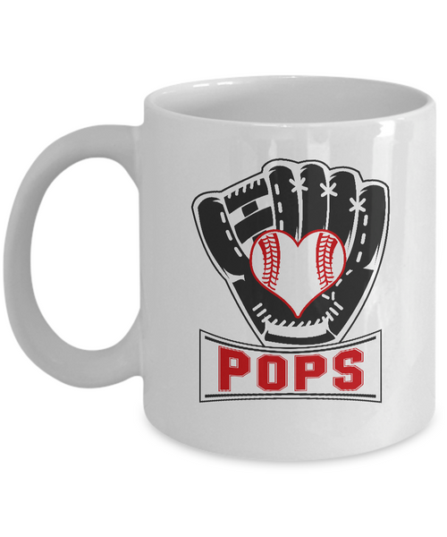 Funny Baseball Mug Pops Softball Gifts for Him Fathers Day 11oz 15oz