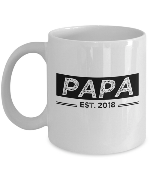 Papa Est. 2018 Mug, New Papa Gifts, Papa Coffee Mug, Grandparents Day Gifts