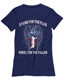 Stand For The Flag, Kneel For The Fallen T-shirt and Hoodie