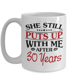 30th Anniversary Gifts for Men, Funny 30th Anniversary Mug for Him, 30 Years Wedding Anniversary Coffee Mug