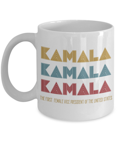 Kamala US Vice President-elect Coffee Mug - Kamala Harris Joe Biden Mug - The First Female Vice President - 2020 Election Ceramic Mug