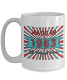 Vintage 1963 Mugs - Made In 1963 All Original Parts Cool Birthday Gifts For Men, Women 11oz 15oz
