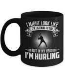 In My Head I am Hurling - Black Mugs