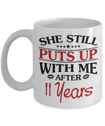 11th Anniversary Gifts for Men, Funny 11th Anniversary Mug for Him, 11 Years Wedding Anniversary Coffee Mug
