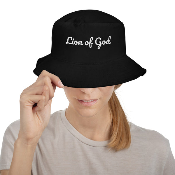 Custom Embroidered Personalized Lion of God Bucket Hat, Add Your Name or Text