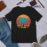 Best Dad Ever Shirt, Vintage Dad Shirt, Father's Day Gift for Him, Daddy Short-Sleeve Unisex T-Shirt