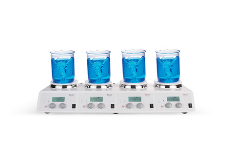 MS-H340-S4  4-Channel LCD Digital Hotplate Magnetic Stirrer