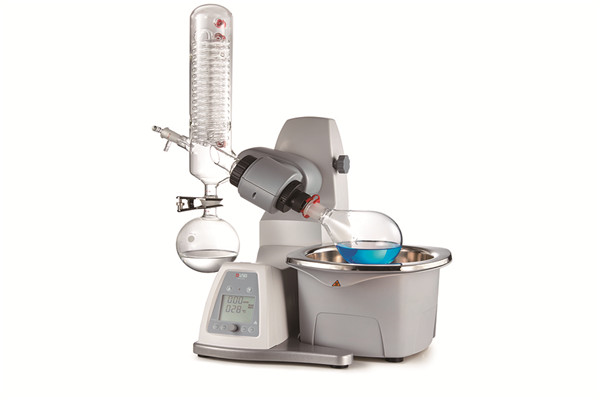 RE100-Pro Rotary Evaporator with set of glassware vertical include