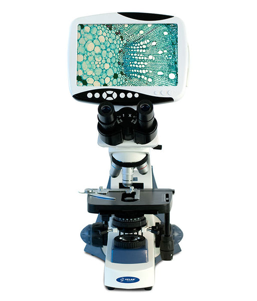 "VE-653 Binocular Digital Microscope with Integrated 9"" LCD Display"