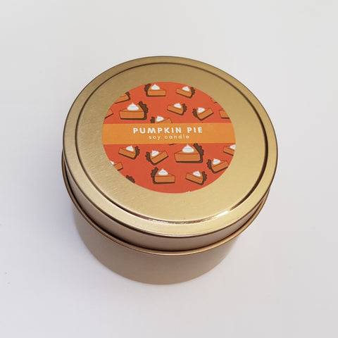Pumpkin Pie Tin Soy Candle