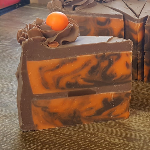 SECONDS Chocolate Orange Cake Slice Soap