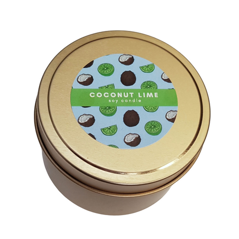 Coconut Lime Tin Soy Candle