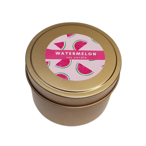 Watermelon Tin Soy Candle