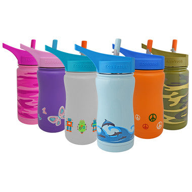 Eco vessel, Frost with Flip Straw Lid - 400ml