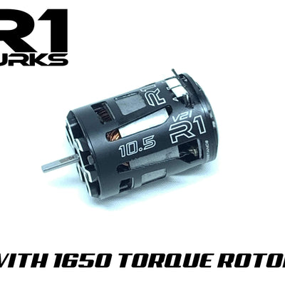 V21 10.5T with 1650 Torque Rotor 020048 - R1 Brushless Motor Lab, LLC.