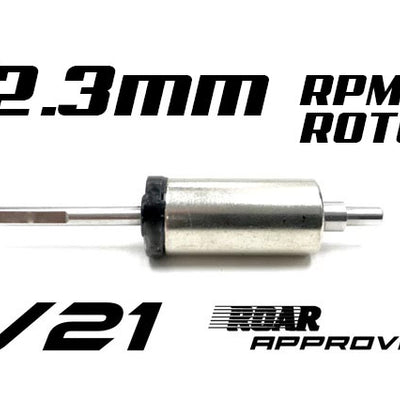 R1 V21 12.3mm replacement rotor for 25.5 123705 C3 - R1 Brushless Motor Lab, LLC.