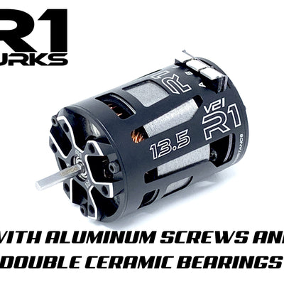 V21 13.5T with Aluminum Screws and Double Ceramic Bearings 020009 - R1 Brushless Motor Lab, LLC.