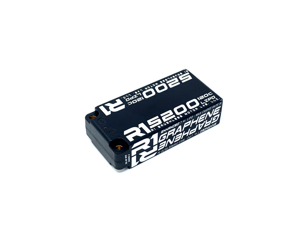 R1 5200mah 120C 7.4V 2S LiPo<BR>Enhanced Graphene Shorty Battery 030006-2