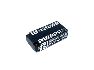 R1 5200mah 120C 7.4V 2S LiPo<BR>Enhanced Graphene Shorty Battery 030006-2 D3