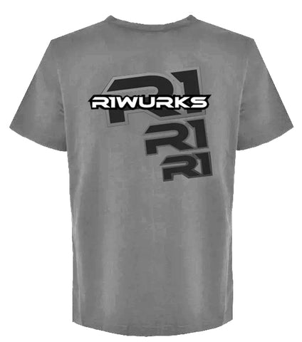 """R1 Digital 3"" Gray T-Shirt XXL 090018 C3"