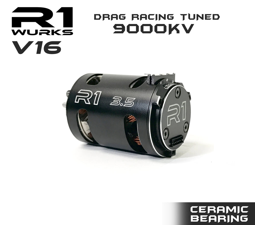 R1 3.5T V16 Drag Racing Tuned 9000kv Motor ALL OUT BUILD w/ Double Ceramic Bearing 020110-3