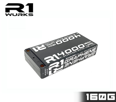 R1 4000mah 120C 7.4V 2S LIPO Enhanced Graphene Shorty Battery 030018-2